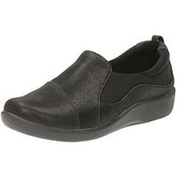 Clarks Sillian Paz Wide Fit Slip On Shoe - Black