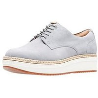 Clarks Teadale Rhea Thick Sole Brogue, Light Grey, Size 5, Women