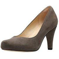 Clarks Dalia Rose Wide Fit Platform Court Shoe, Taupe, Size 3, Women