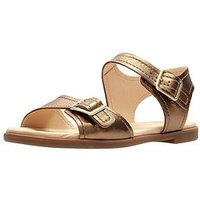 Clarks Bay Primrose Two Strap Flat Sandal - Bronze Metallic, Bronze Metallic, Size 7, Women