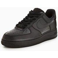 Nike Air Force 1 07 - Black , Black/Black, Size 5, Women