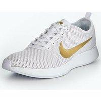 Nike Dualtone Racer Metallic - White, White/Gold, Size 5, Women