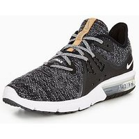 Nike Air Max Sequent 3 - Black/White , Black/White, Size 6, Women