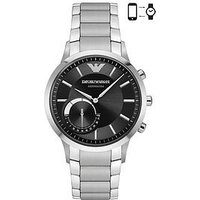 Emporio Armani Connected Silver Stainless Steel Hybrid Smartwatch, One Colour, Men