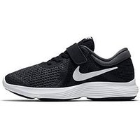 Nike Revolution 4 Childrens Trainer, Black/White, Size 11