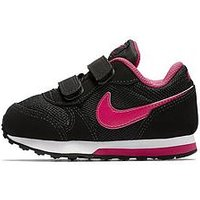 Nike Nike MD Runner 2 Infant Trainer, Black/Pink, Size 7