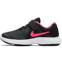 Nike Revolution 4 Childrens Trainer - Black/Pink , Black/Pink, Size 1