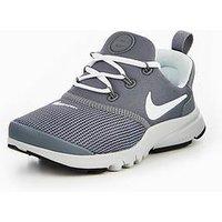 Nike Presto Fly Childrens Trainer, Grey/White, Size 11.5