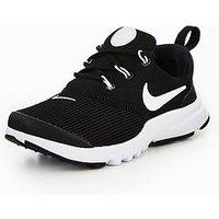 Nike Presto Fly Childrens Trainer, Black/White, Size 11.5