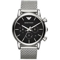 Emporio Armani Stainless Steel Mesh Bracelet Gents Watch, One Colour, Men