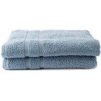 Silentnight Silentnight Zero Twist Pack 2 Bath Sheets