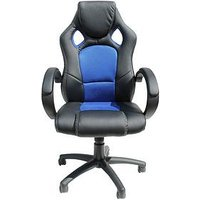 Product photograph showing Alphason Jensen Office Chair - Black Blue