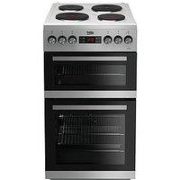 Beko Kdv555Aw 50Cm Double Oven Electric Cooker - White