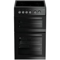 Beko Kdvc563Ak 50Cm Double Oven Electric Cooker - Black With Connection
