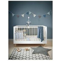 Mamas & Papas Mamas & Papas Juno Cot Bed, White/Natural