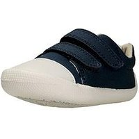 Clarks Tiny Pebble First Shoe, Navy, Size 3.5 Younger