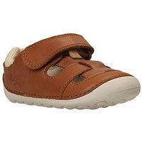 Clarks Baby Boys Tiny Ash First Sandals - Tan, Tan, Size 3 Younger