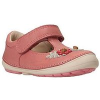 Clarks Softly Blossom First Shoe, Baby Pink, Size 3.5 Younger
