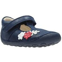 Clarks Tiny Blossom First Shoe, Blue, Size 4.5 Younger