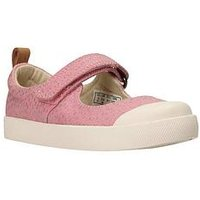 Clarks Halcy Wink First Shoe, Baby Pink, Size 6 Younger