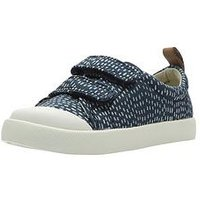 Clarks Halcy Hati First Shoe, Navy, Size 4.5 Younger