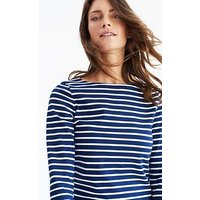 Joules Harbour Jersey Top - Navy/White, Hope Stripe French Navy, Size 12, Women