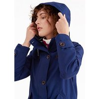 Joules Coast Waterproof Hooded Jacket - French Navy, French Navy, Size 16, Women