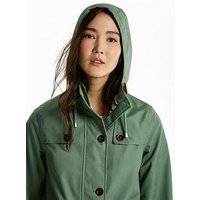 Joules Coast Waterproof Hooded Jacket - Laurel, Laurel, Size 10, Women