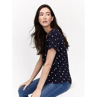 Joules Iona S/s Blouse, French Navy Elsa Spot, Size 10, Women