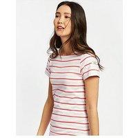 Joules Riviera Short Sleeve Jersey Dress - Pink Stripe, Pink Stripe, Size 18, Women