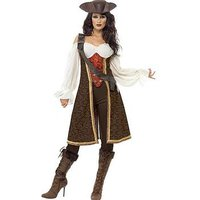 Ladies High Sea Pirate Wench Costume, One Colour, Size L, Women