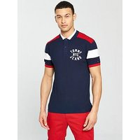 Tommy Jeans Nyc Badge Polo, Navy, Size Xl, Men