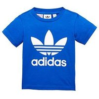 Boys, adidas Originals adidas Originals adicolor Baby Trefoil Tee, Blue, Size 9-12 Months