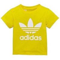 adidas Originals Baby Trefoil Tee, Yellow, Size 12-18 Months