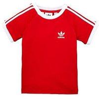 Boys, adidas Originals adidas Originals adicolor Baby Boy California Tee, Scarlet, Size 3-4 Years