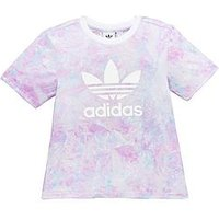 adidas Originals Younger Girl Print Tee, Multi, Size 5-6 Years, Women