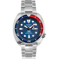 Seiko in Association with Padi Blue Dial Stainless Steel Mens Diving Watch, One Colour, Men
