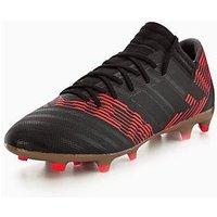 adidas Nemeziz 17.3 Firm Ground Football Boots, Black, Size 10, Men
