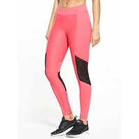 V by Very Snake Mesh Panel Legging, Coral, Size 14, Women