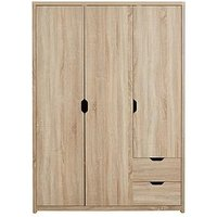 Product photograph showing Aspen 3 Door 2 Drawer Wardrobe