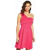 V by Very Petite PETITE Asymmetric Scuba Prom Dress, Fuchsia, Size 12, Women