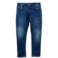 Boys, Mini V by Very Mid Wash Knitted Denim Jean, Denim, Size Age: 9-12 Months