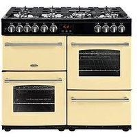 Belling Farmhouse 100Dft 100Cm Dual Fuel Range Cooker (Cream) With Connection