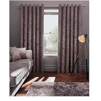 Studio G Naples Velvet Lined Eyelet Curtains 66X72