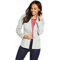 V by Very Jersey Blazer - Grey Marl, Grey Marl, Size 12, Women