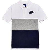 Boys, Nike Older Boy Panel Polo Top, White, Size L=12-13 Years