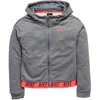 Nike Nike Older Girl Core Studio Dry Full Zip Hoody, Grey Heather, Size L=12-13 Years, Women