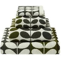 Orla Kiely House Multi Stem Towel Range Moss - 2 Bath Towels