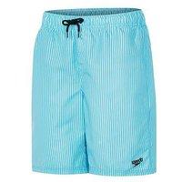 Speedo Boys Sunstripe 17 Inch Watershort, Turquoise, Size 10 Years