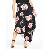 V By Very Curve Asymmetric Hem Full Skirt